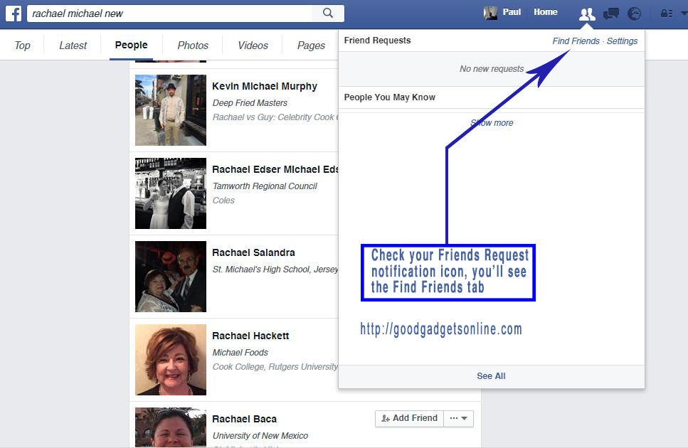 Facebook People Search And Facebook Advanced Search